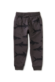 Tea Collection  Printed Joggers - Tonal Sharks - Front cropped