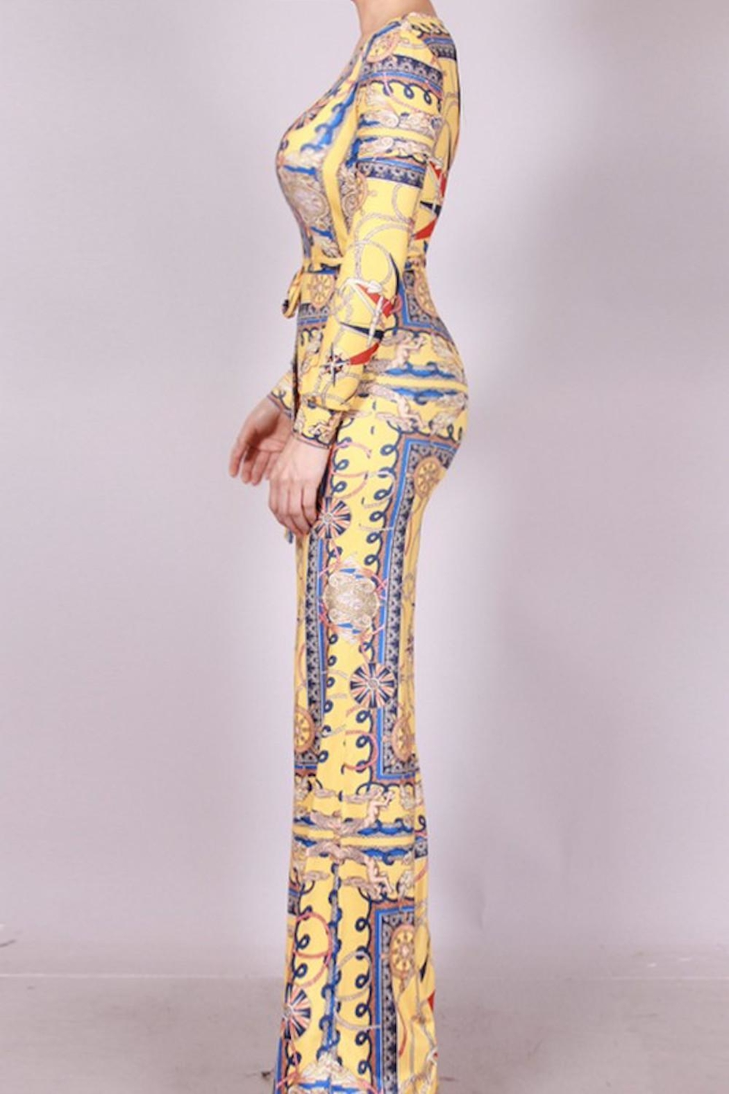 SJ Style Printed Jumpsuit - Side Cropped Image