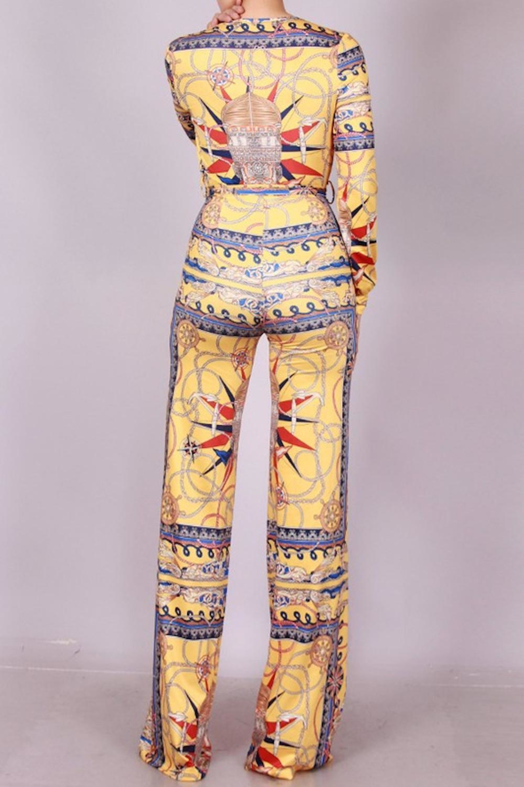 SJ Style Printed Jumpsuit - Back Cropped Image