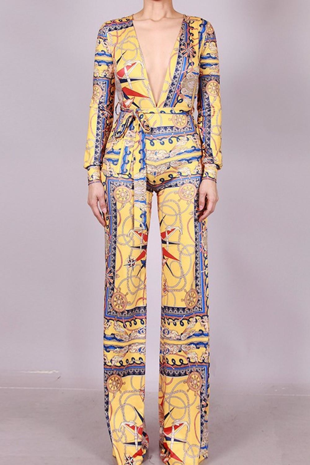 SJ Style Printed Jumpsuit - Front Full Image