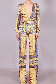SJ Style Printed Jumpsuit - Front full body