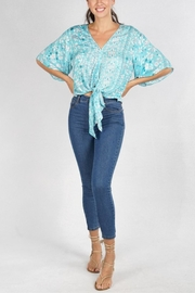 Lovestitch Printed Kimono-Sleeve Top - Product Mini Image