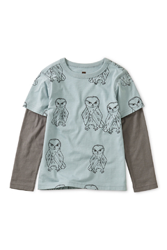 Shoptiques Product: Printed Layered Sleeve Tee