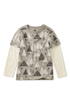 Tea Collection Printed Layered Sleeve Tee - Alternate List Image