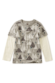 Tea Collection Printed Layered Sleeve Tee - Front cropped