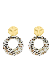 Liza's Jewelry  Printed Leopard Earrings - Product Mini Image