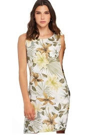 Charlie B Printed Linen Bow Detail Dress - Product Mini Image