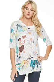 Inoah Printed Long Tunic - Front cropped