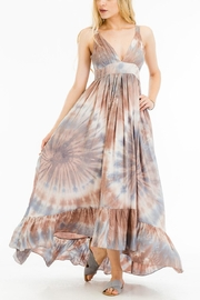 Olivaceous Printed Maxi Dress - Front cropped