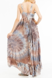 Olivaceous Printed Maxi Dress - Side cropped