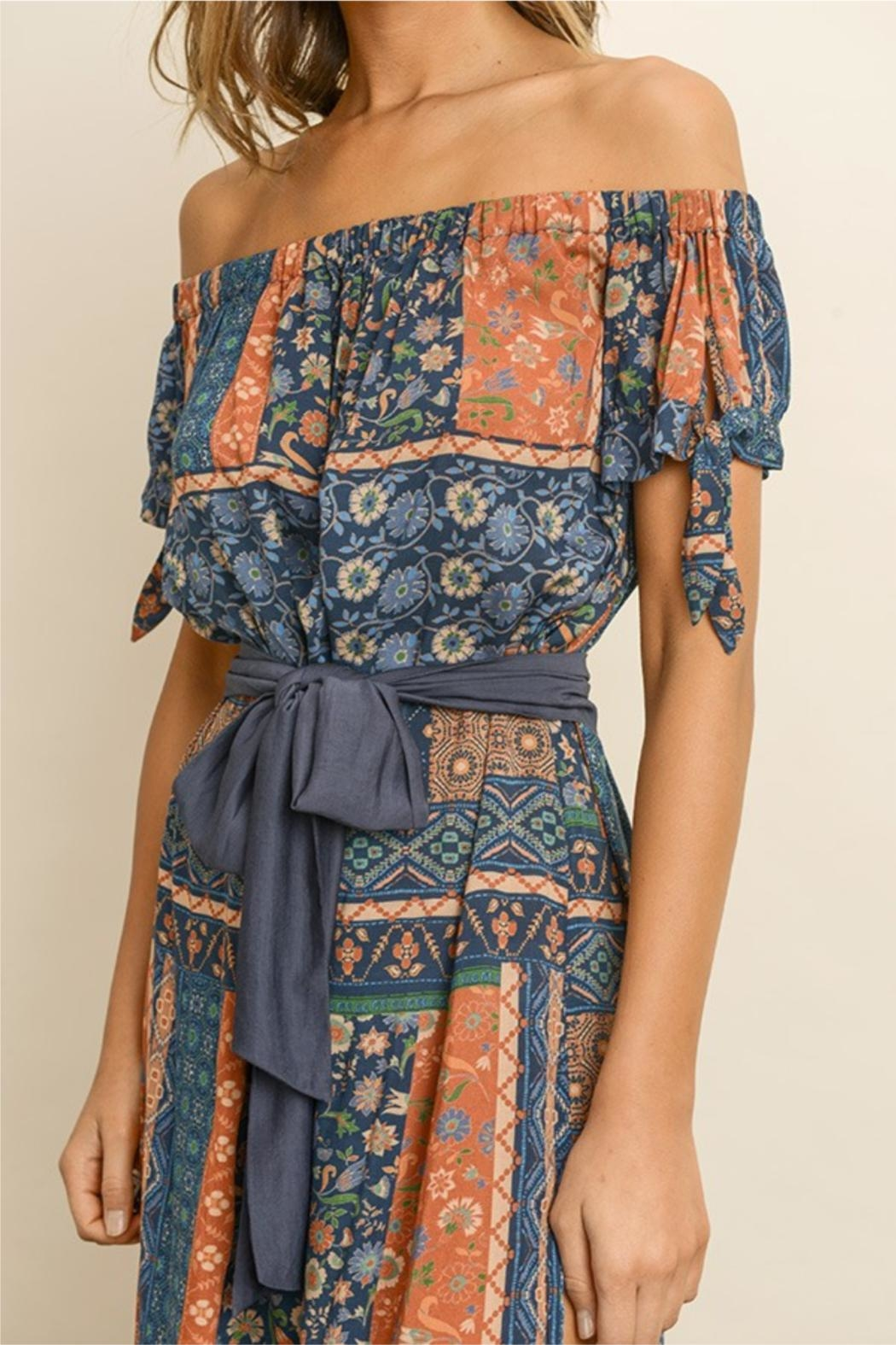 dress forum Printed Maxi Dress - Front Full Image