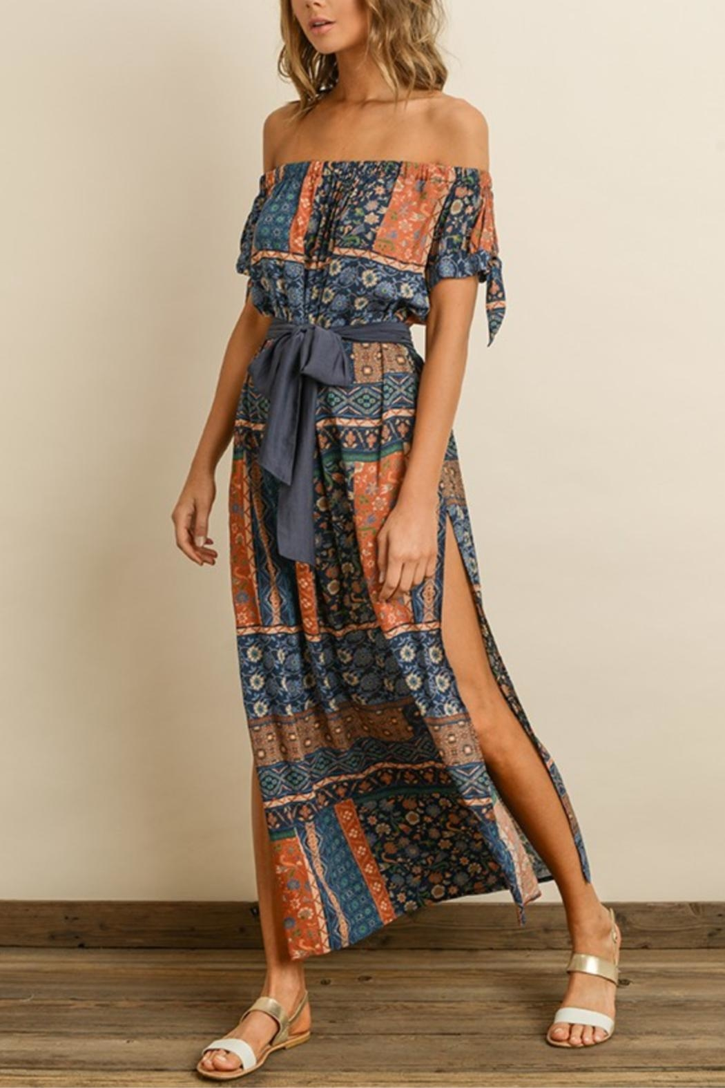 dress forum Printed Maxi Dress - Back Cropped Image
