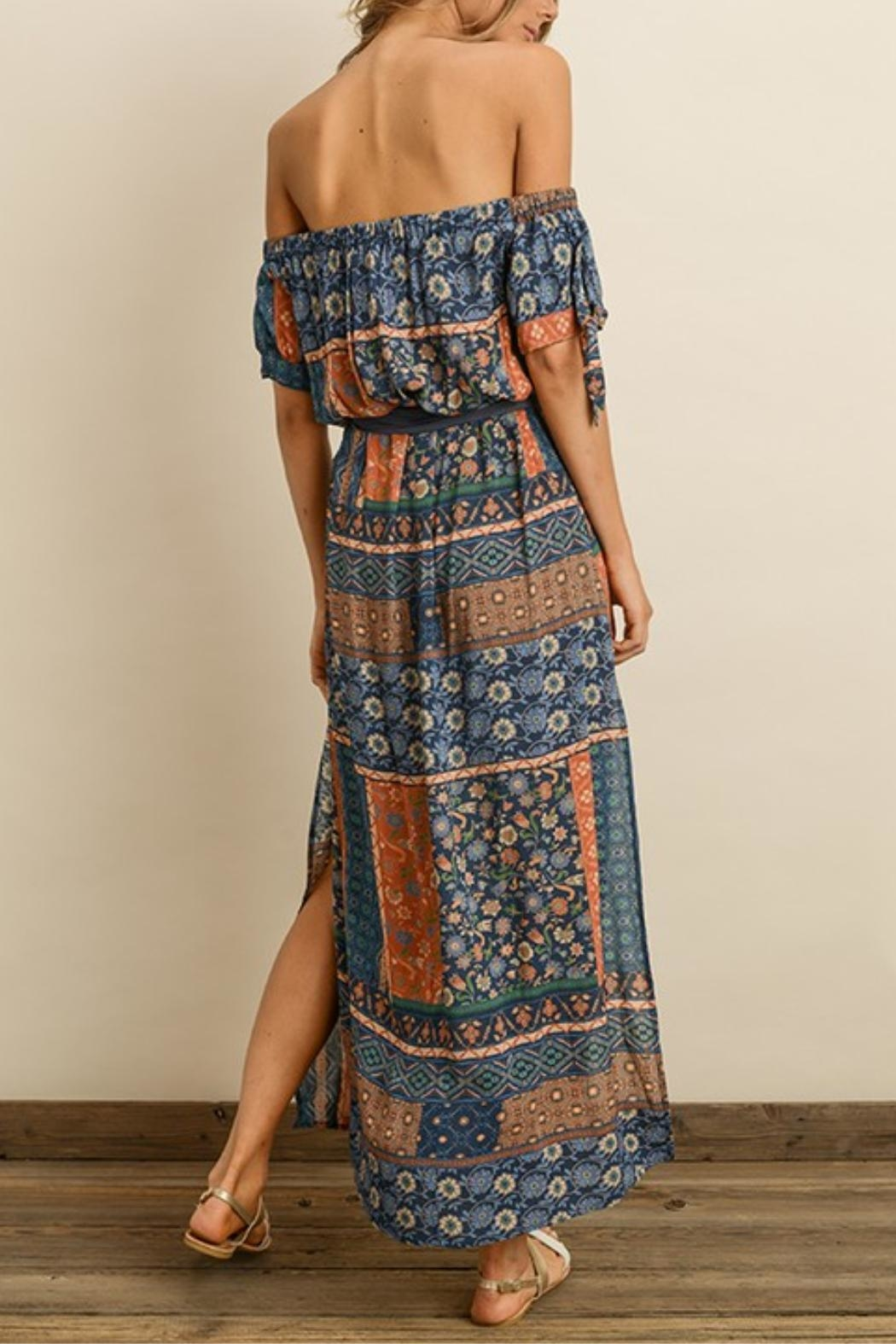 dress forum Printed Maxi Dress - Side Cropped Image
