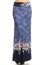Moa Printed Maxi Skirt - Front full body