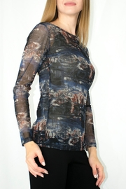 Comfy USA Printed Mesh Tee - Front full body