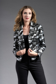 INSIGHT NYC PRINTED METALLIC JKT LIQ BLK CAMO/SILVER - Product Mini Image