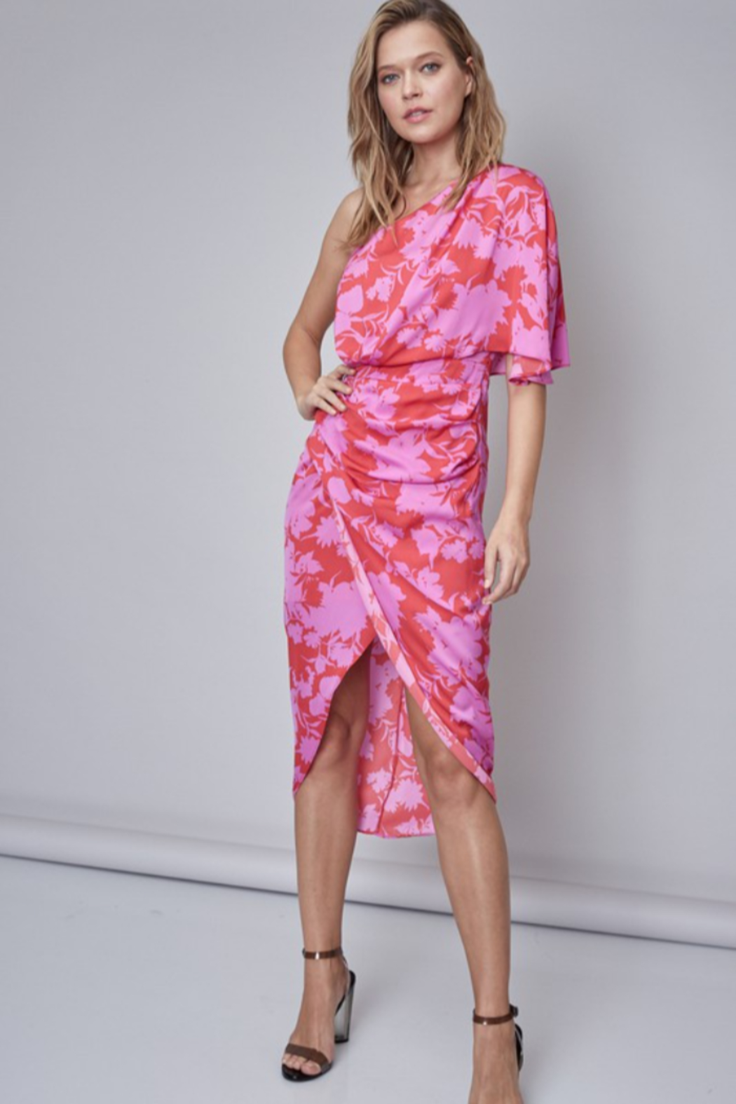 Do + Be  Printed Midi Dress - Front Cropped Image