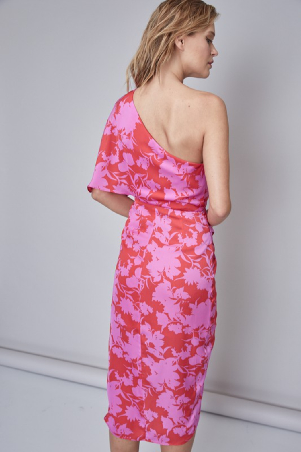 Do + Be  Printed Midi Dress - Side Cropped Image