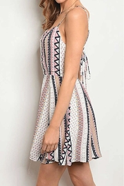 Rousseau Printed Mini Dress - Front full body