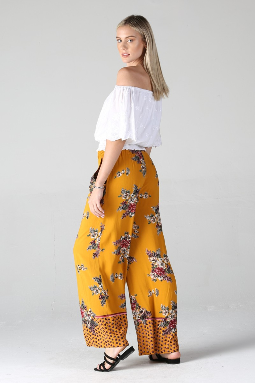 Angie PRINTED PANTS - Front Full Image
