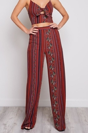 blue blush Printed Pants - Product Mini Image