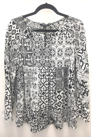 Charlie B Printed Plisse Blouse - Front cropped