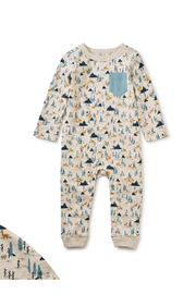 Tea Collection Printed Pocket Romper - Product Mini Image