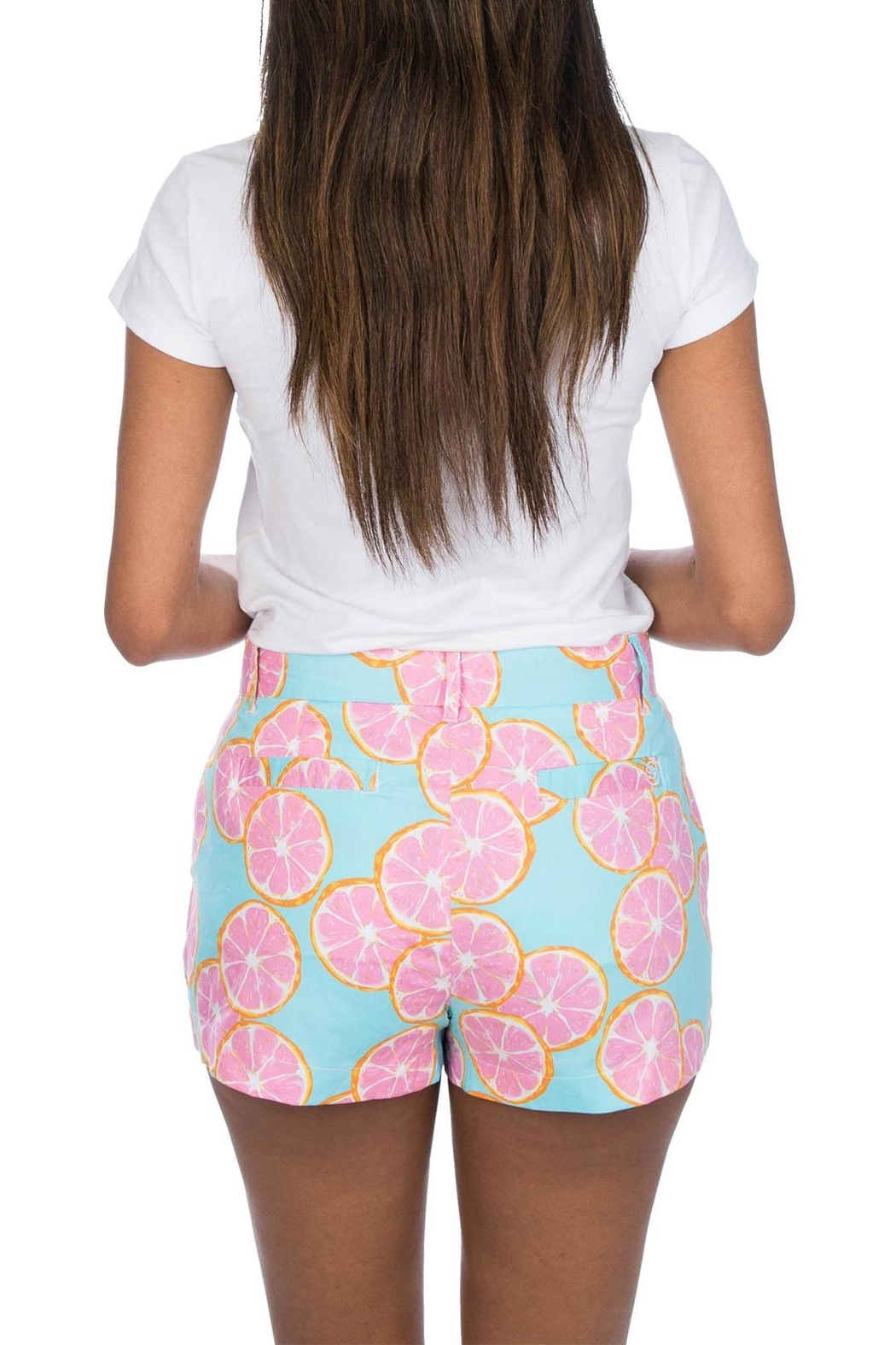 Lauren James Printed Poplin Shorts - Front Full Image