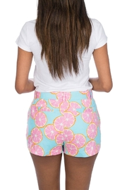 Lauren James Printed Poplin Shorts - Front full body