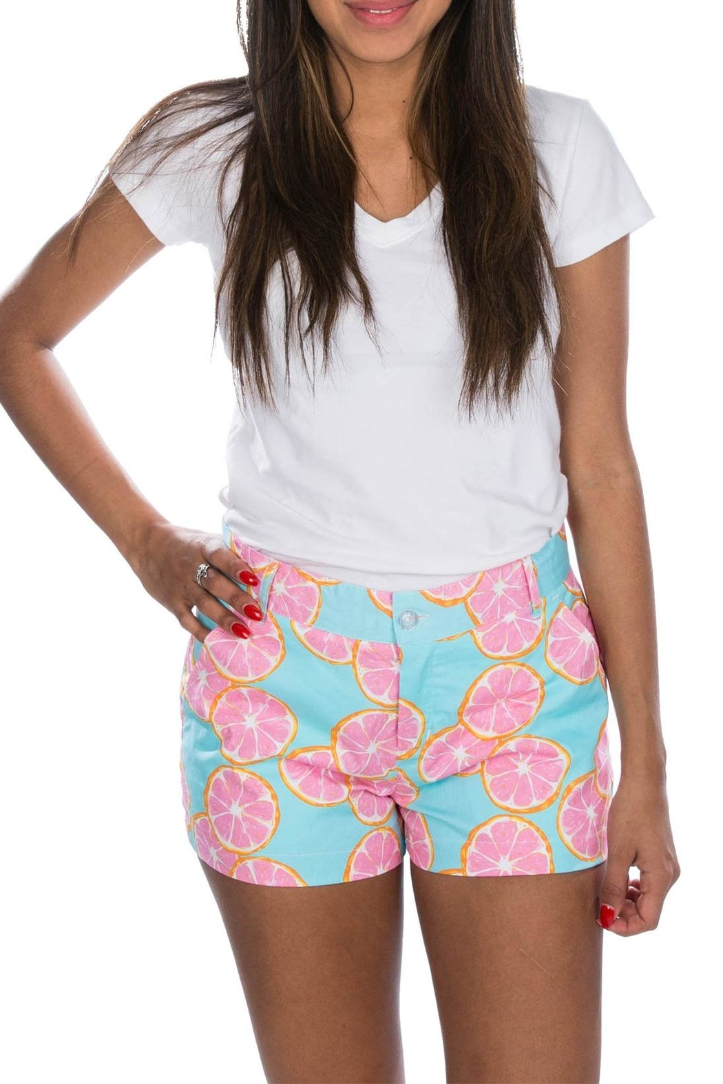 Lauren James Printed Poplin Shorts - Front Cropped Image