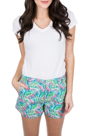 Lauren James Printed Poplin Shorts - Product Mini Image