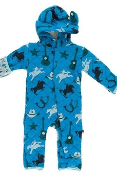 Kickee Pants Printed Quilted Hoodie Coverall with Sherpa Lined Hood - Alternate List Image