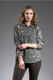 INSIGHT NYC PRINTED RAYON TOP PAISLEY GARDEN - Product Mini Image