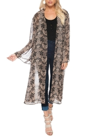 Buddy Love Printed Roberts Duster - Front cropped