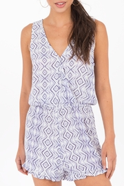 Others Follow  Printed Romper Orchid - Product Mini Image