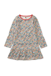 Tea Collection Printed Ruffle Dress - Front full body
