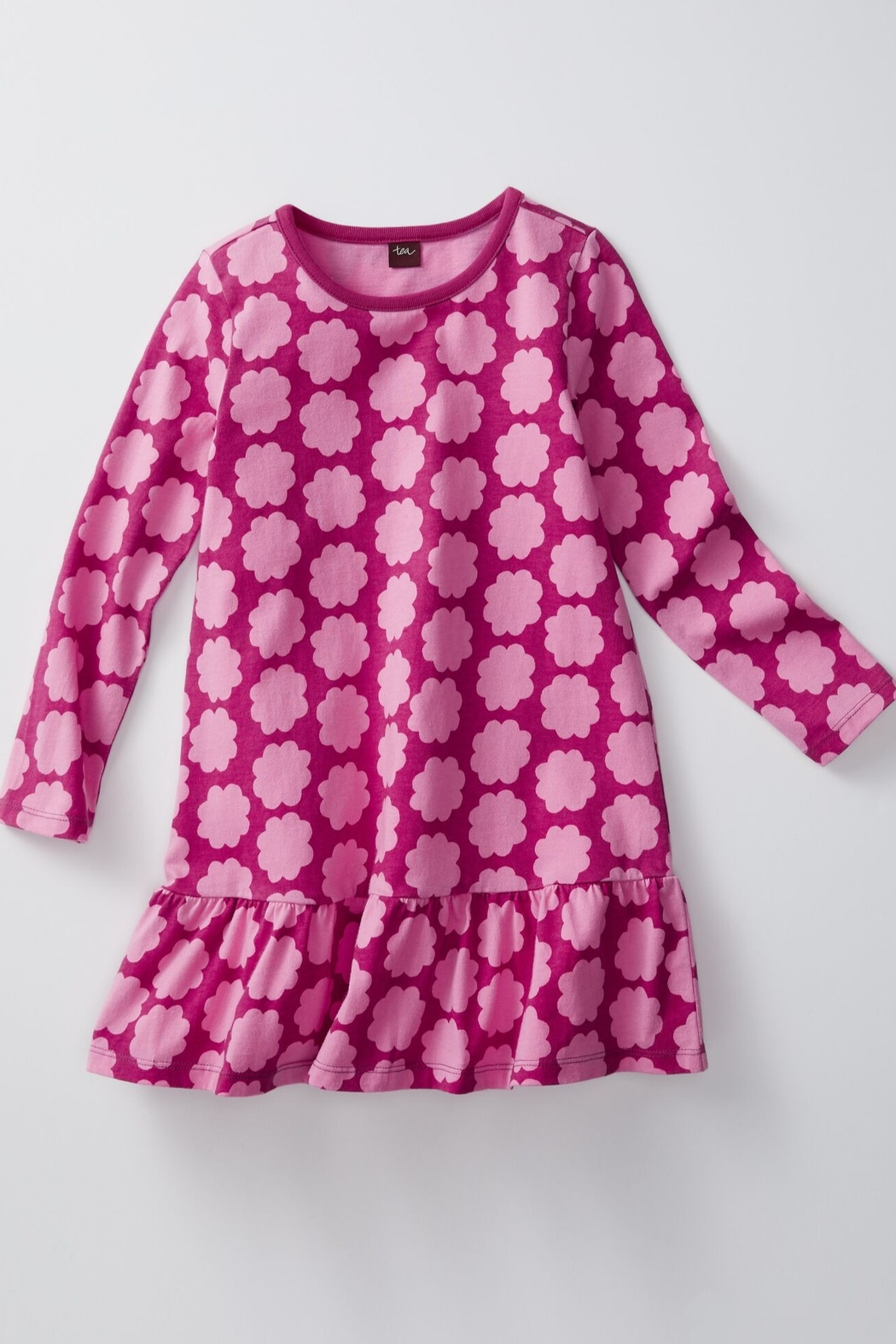 Tea Collection Printed Ruffle Dress - Front Full Image