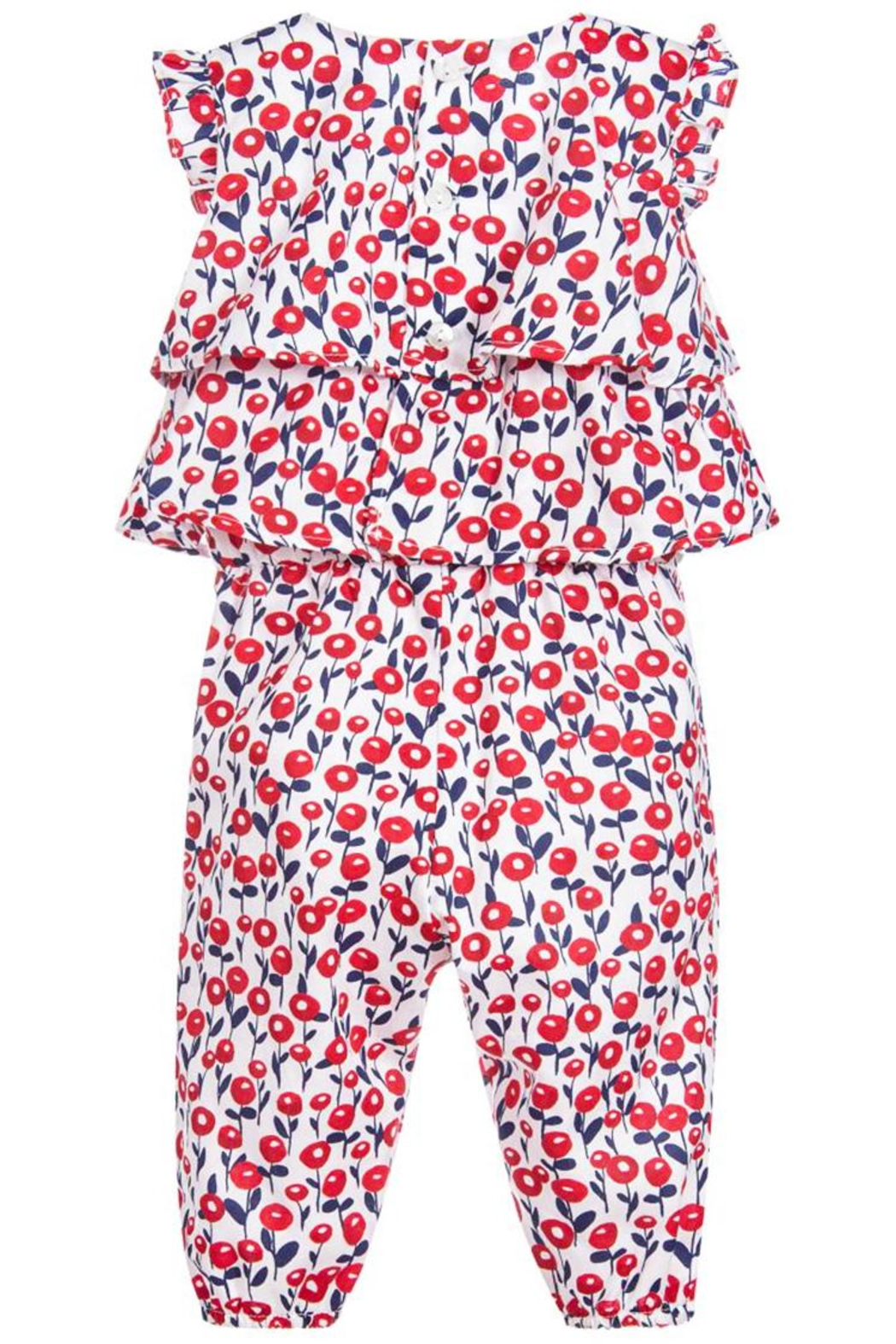Mayoral Printed Ruffle Jumpsuit - Front Full Image