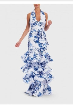 Forever Unique Printed Ruffle Maxi - Product List Image