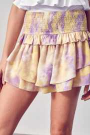Do + Be  Printed Ruffle Mini Skort - Front cropped