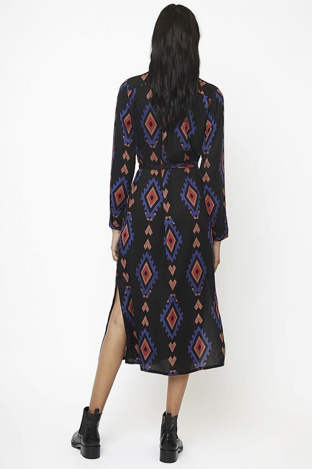 Compania Fantastica Printed Shirt Dress - Front Full Image