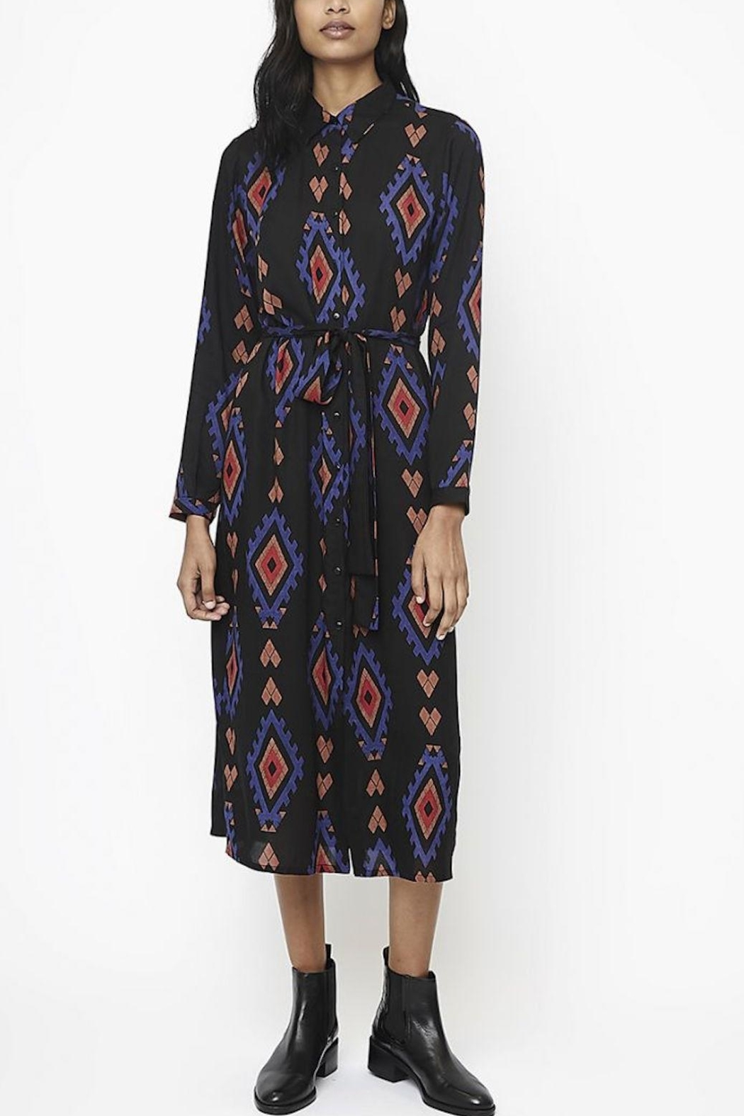 Compania Fantastica Printed Shirt Dress - Front Cropped Image