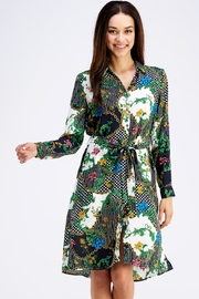 OVI Printed Shirt Dress - Front cropped