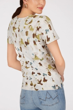 525 America Printed Short Sleeve Knit Top - Product List Image