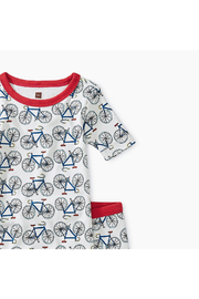 Tea Collection Printed Shortie Pajamas - Front full body