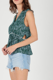 See U Soon Printed Side Cut Out Top - Front cropped