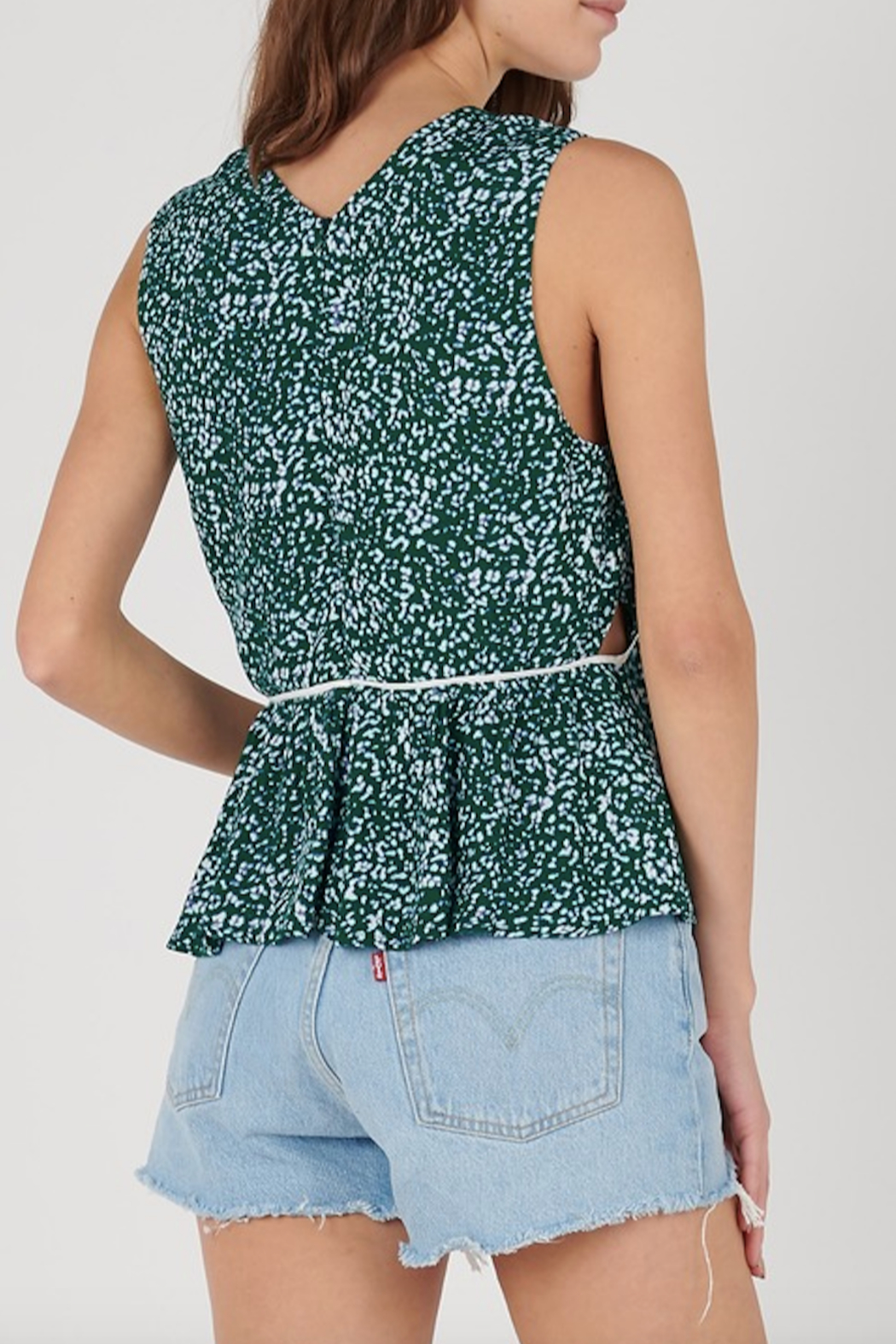 See U Soon Printed Side Cut Out Top - Front Full Image