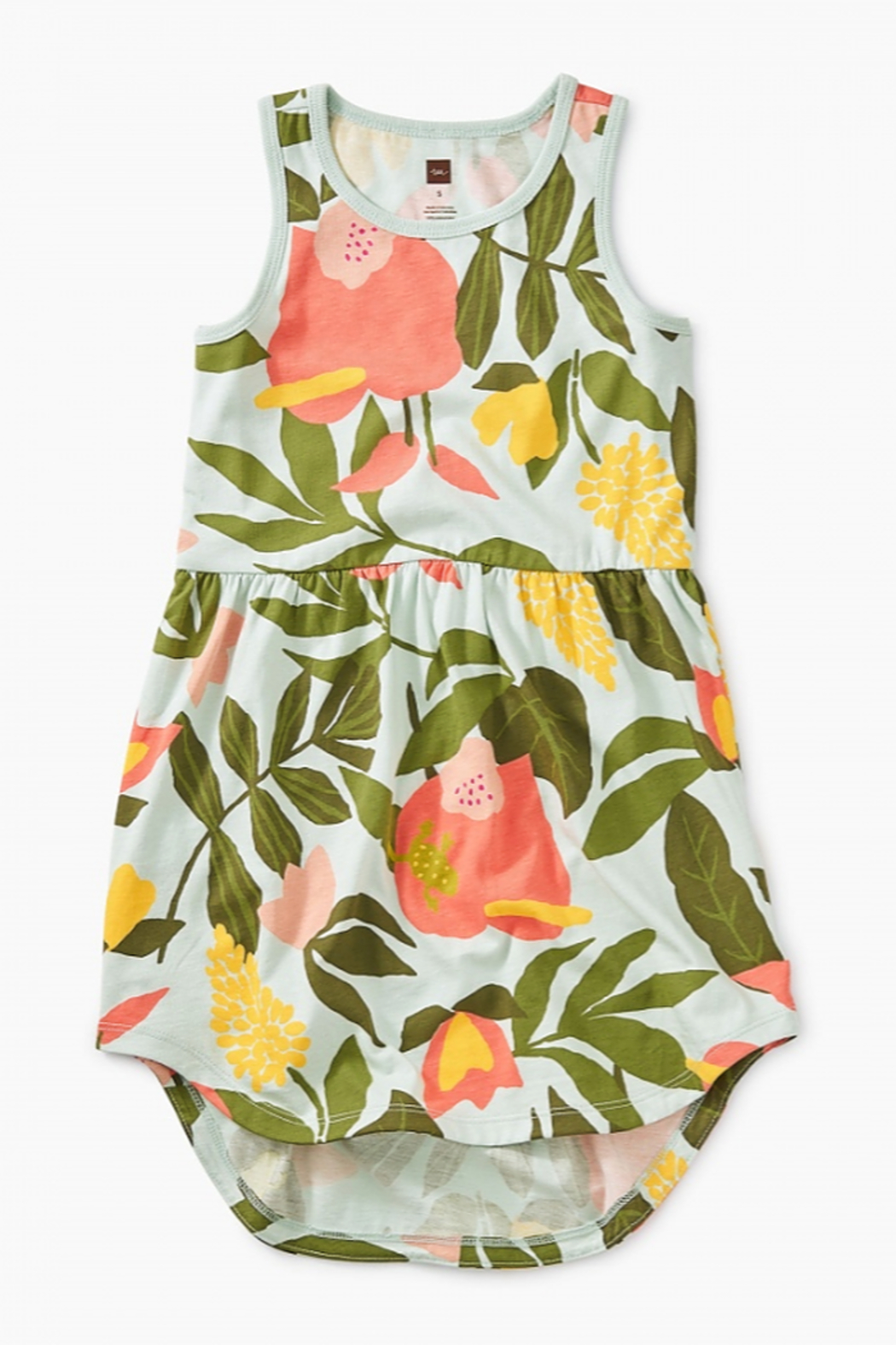 Tea Collection Printed Skirted Tank Dress - Front Cropped Image