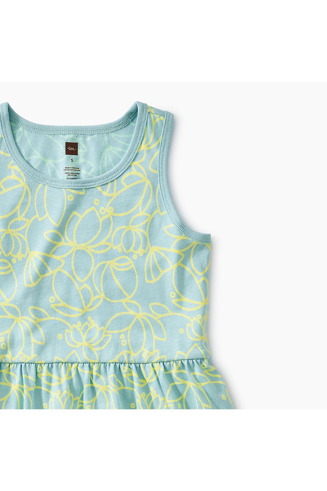 Tea Collection Printed Skirted Tank Dress - Side Cropped Image