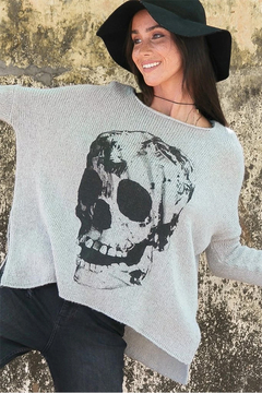 Wooden Ships Printed Skull Pullover - Product List Image